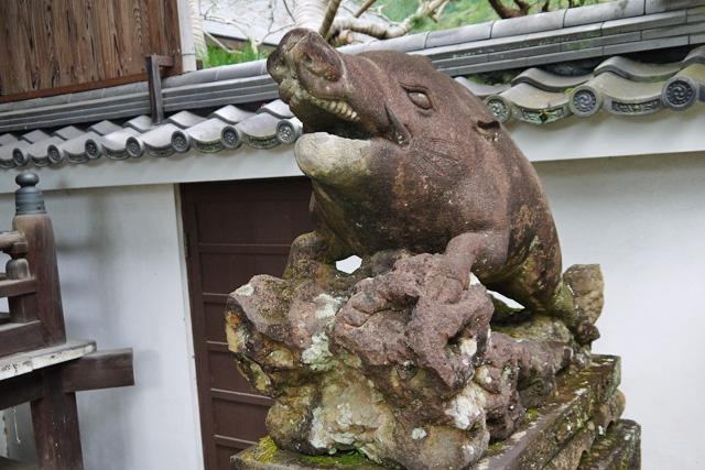 南禅寺 聴松院のイノシシ