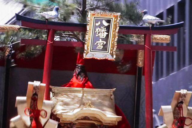 祇園祭の八幡山の写真