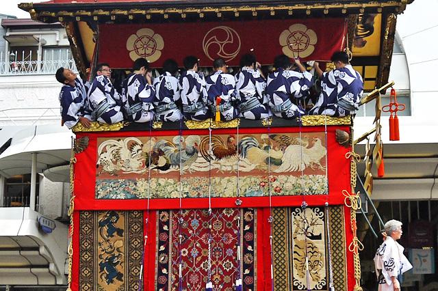 祇園祭の函谷鉾の写真