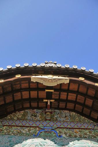 御香宮神社の彫刻の写真