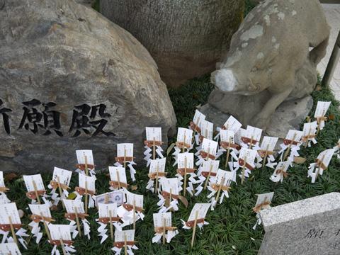 護王神社のイノシシの写真