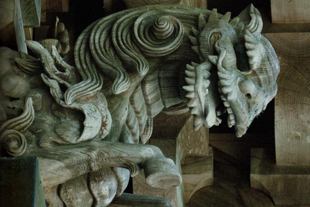神谷太刀宮神社の彫刻写真