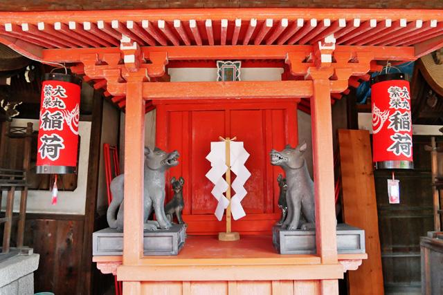 瀧尾神社のお稲荷さんの写真